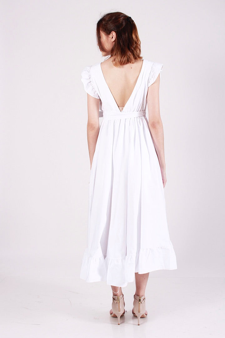 [BO] PRINCESS POLLY RUFFLE DRESS (WHITE)