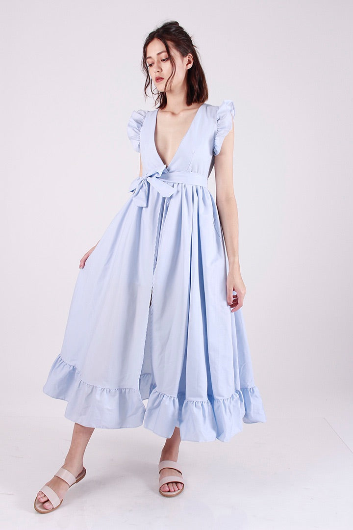 PRINCESS POLLY RUFFLE DRESS (POWDER)