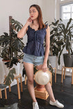 AFTER YOU EYELET TOP (NAVY)