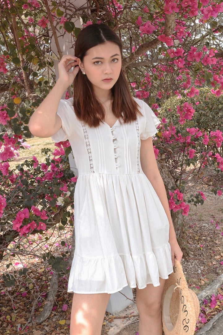 FORGET ME NOT DRESS (WHITE)