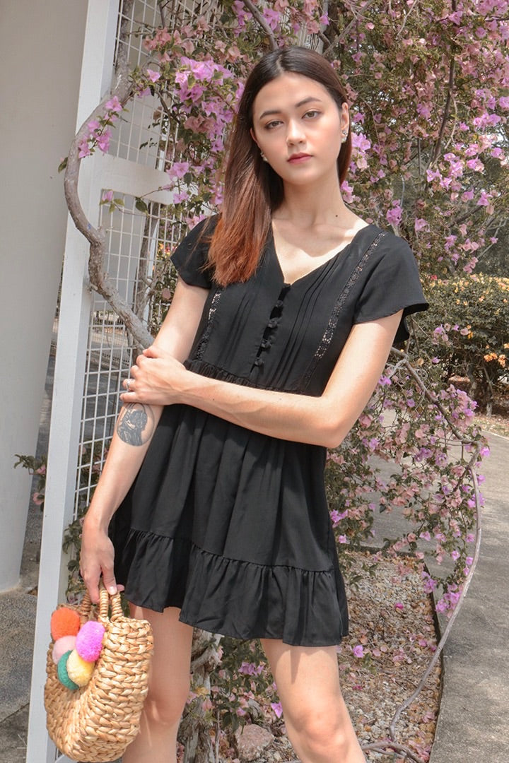 FORGET ME NOT DRESS (BLACK)