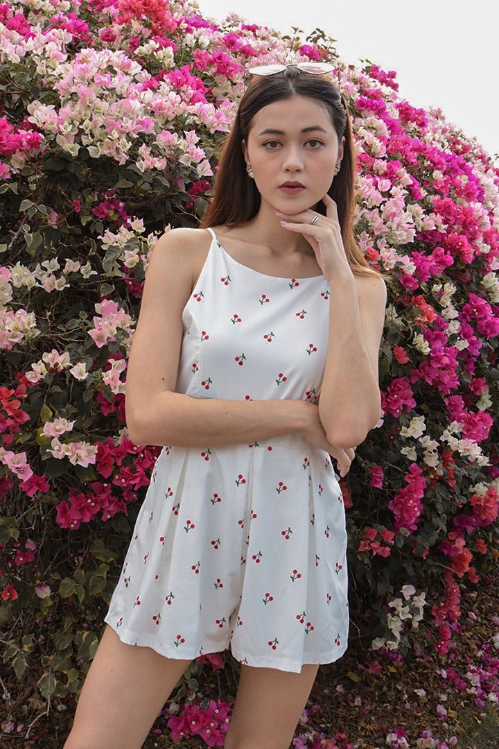 CHEVVY BASIC PLAYSUIT (CHERRY) *LAST PC*