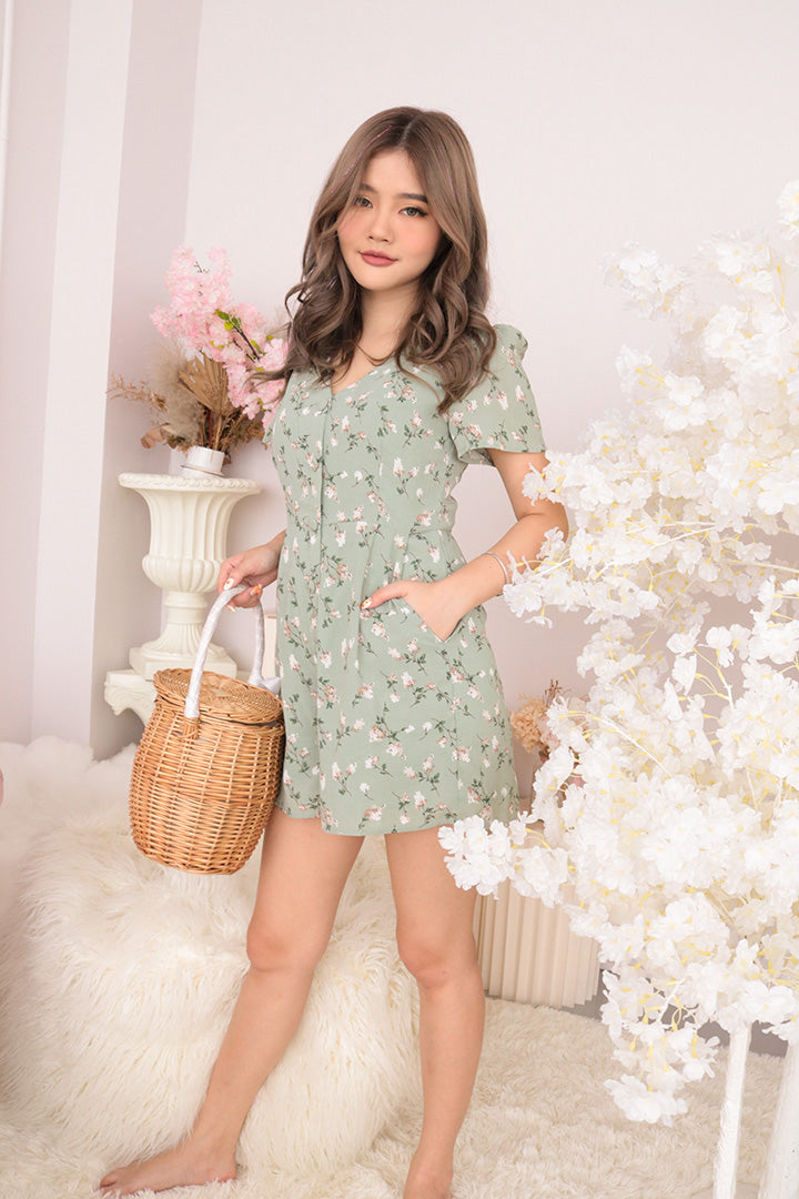 GYPSY FLORA PLAYSUIT (GREEN)