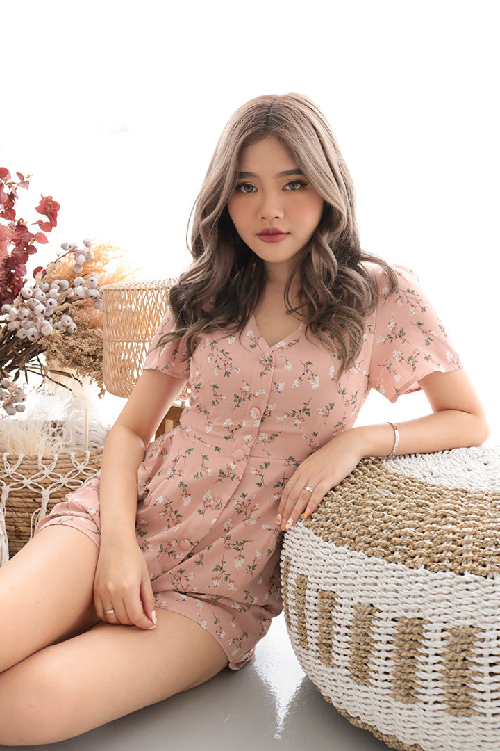 GYPSY FLORA PLAYSUIT (BLUSH)