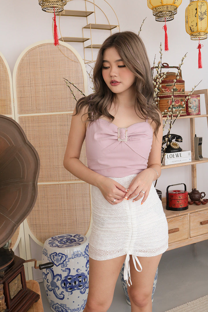 TALEA BUCKLE CAMI TOP (BLUSH)