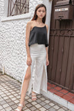 DORAMA BASIC TOGA TOP (BLACK)*LAST FEW*