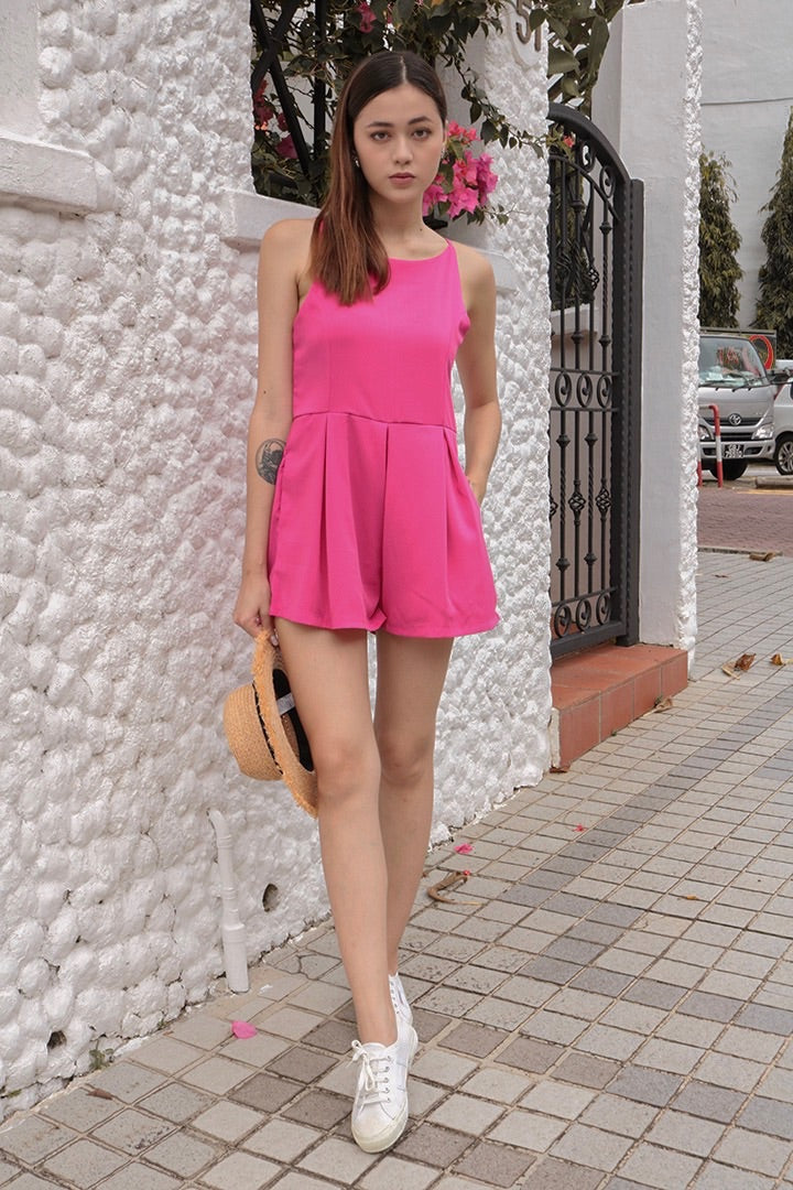 CHEVVY BASIC PLAYSUIT (BARBIE PINK)