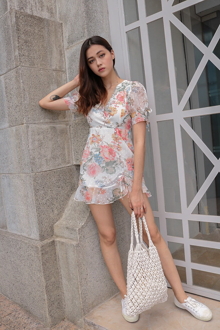 DARLING RUFFLES MINI DRESS (FLORAL)