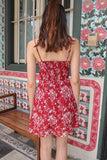 TWINNY FLORAL CAMI DRESS (MAROON)