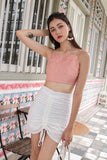 ENDLESS BOW BACK CROP (BLUSH)