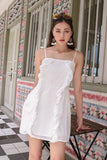 ARIANA RUFFLES DRESS (WHITE)