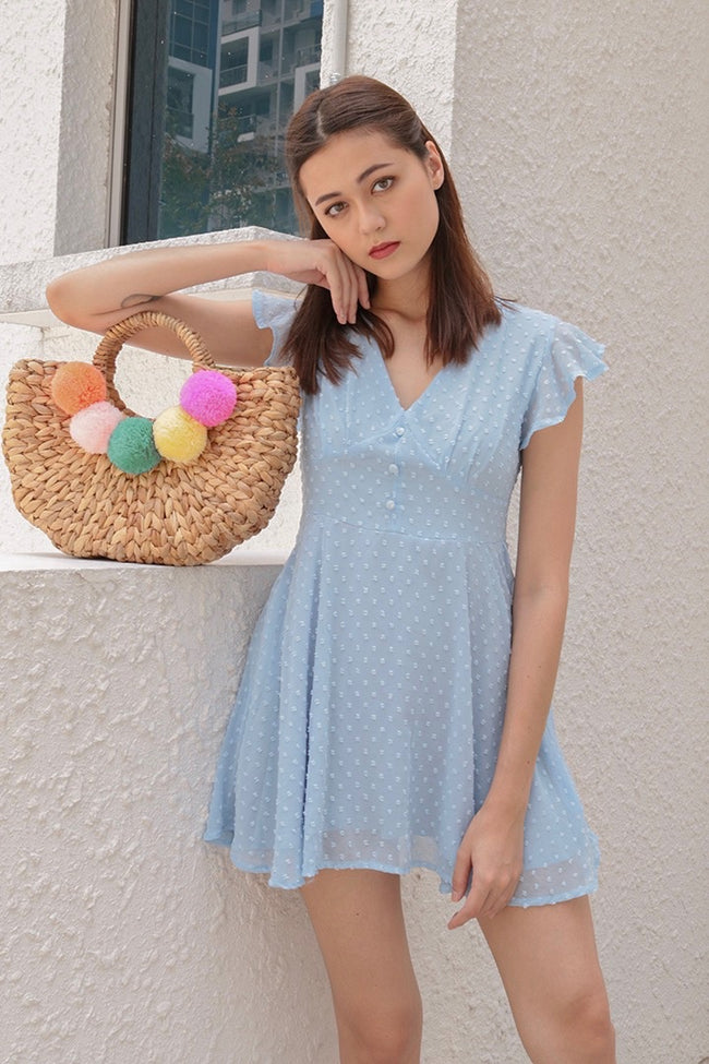 VELLA MESH SLIP ON DRESS (SKY)