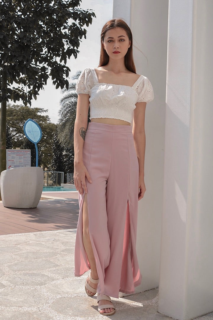 GET COSY SPLIT PANTS (BLUSH)