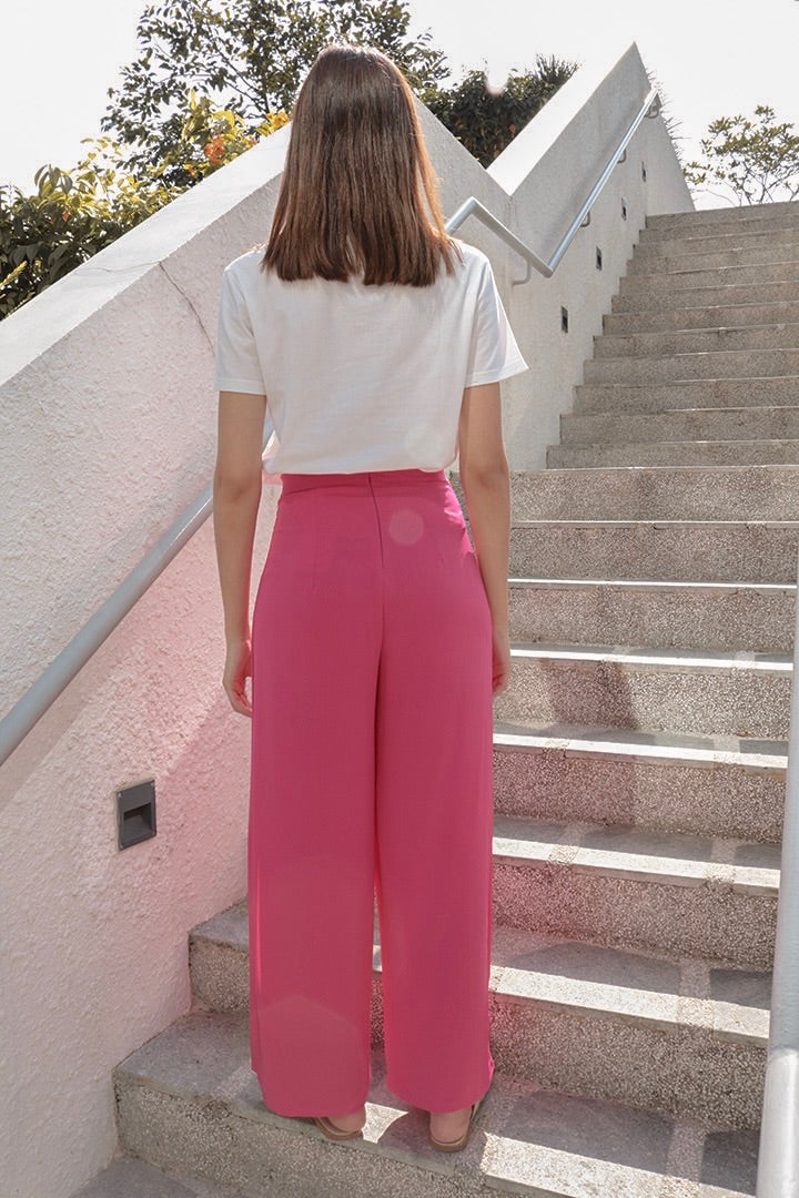GET COSY SPLIT PANTS (BARBIE PINK)
