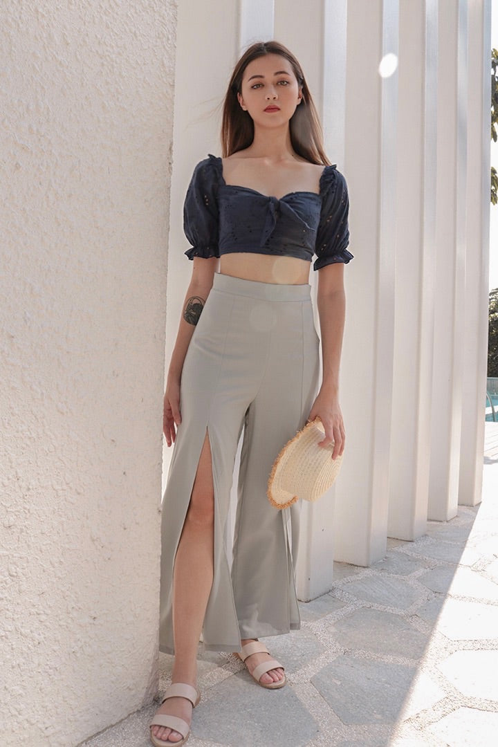 GET COSY SPLIT PANTS (GREY)