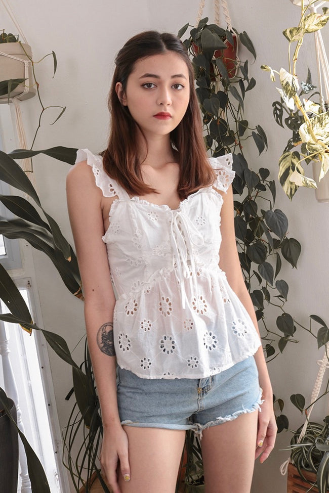 AFTER YOU EYELET TOP (WHITE) *SELLING FAST*