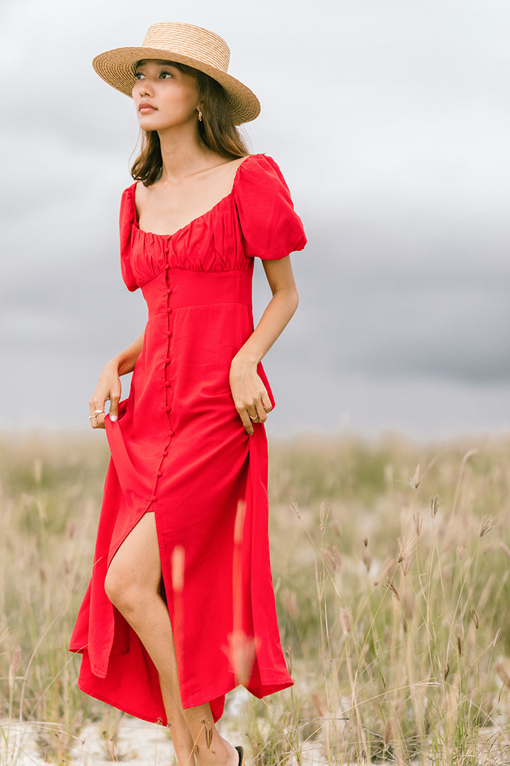 RUNAWAY 2WAY MAXI DRESS (RED)