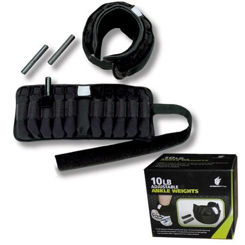 Ultimately Fit 10 lbs OR 20 lbs Adjustable Ankle Weights
