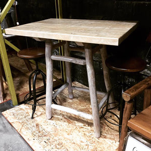 Bistro Table (Rectangular, Log)