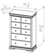8 Drawer Chest