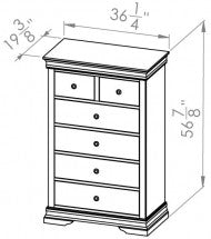 5 Drawer/Split Chest