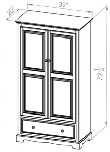 1 Drawer Armoire