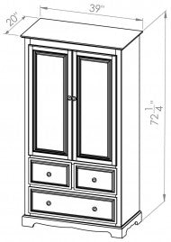 2 Drawer/Split Armoire