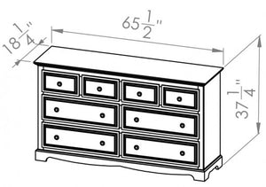 6 Drawer/Split Dresser
