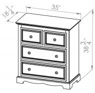 3 Drawer/Split Chest