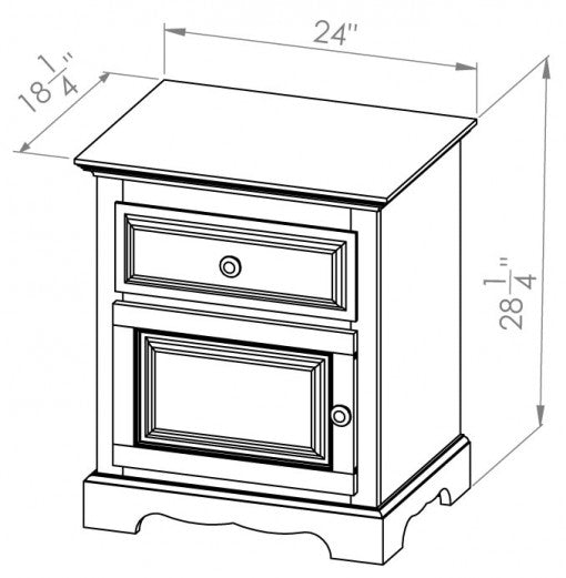 Door/Drawer Night Table