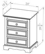 3 Drawer Night Table
