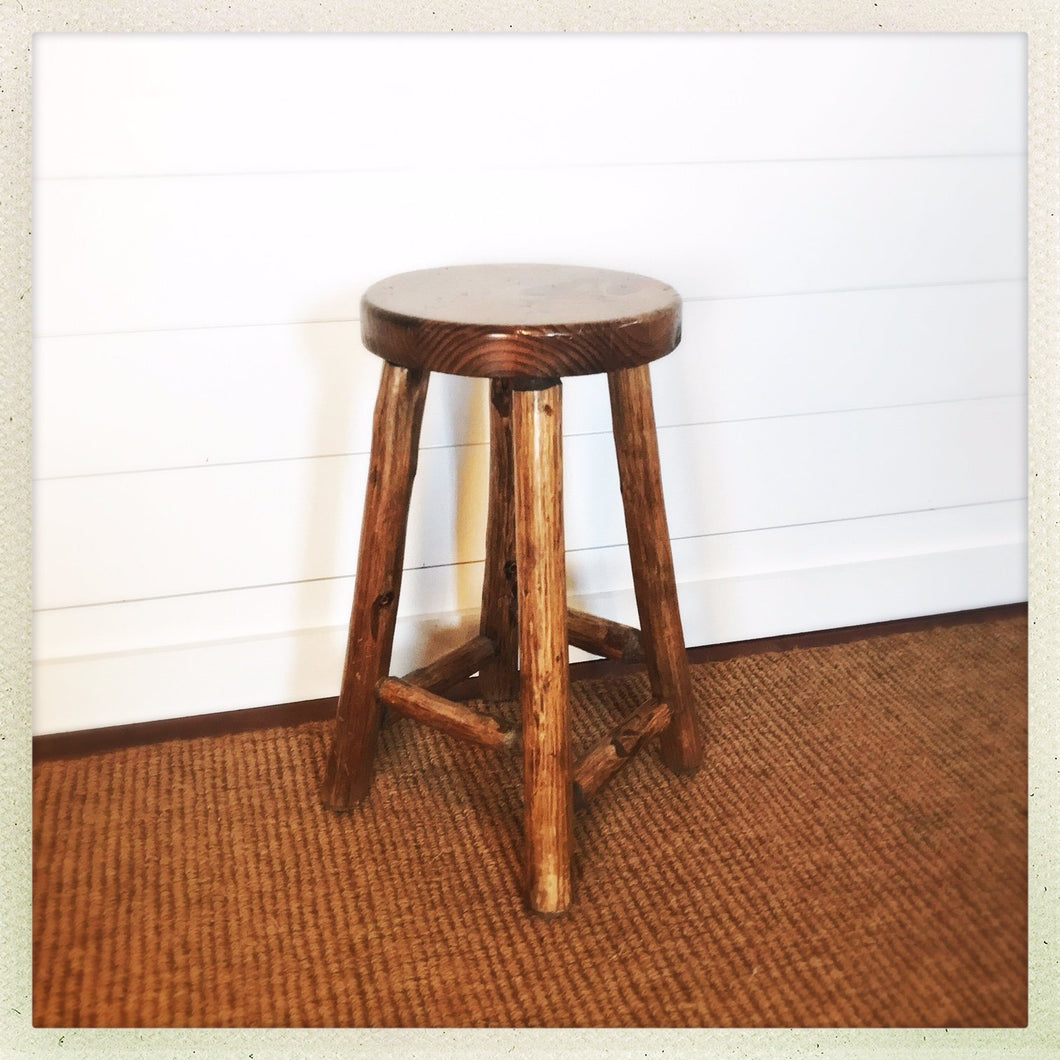 log bar stool