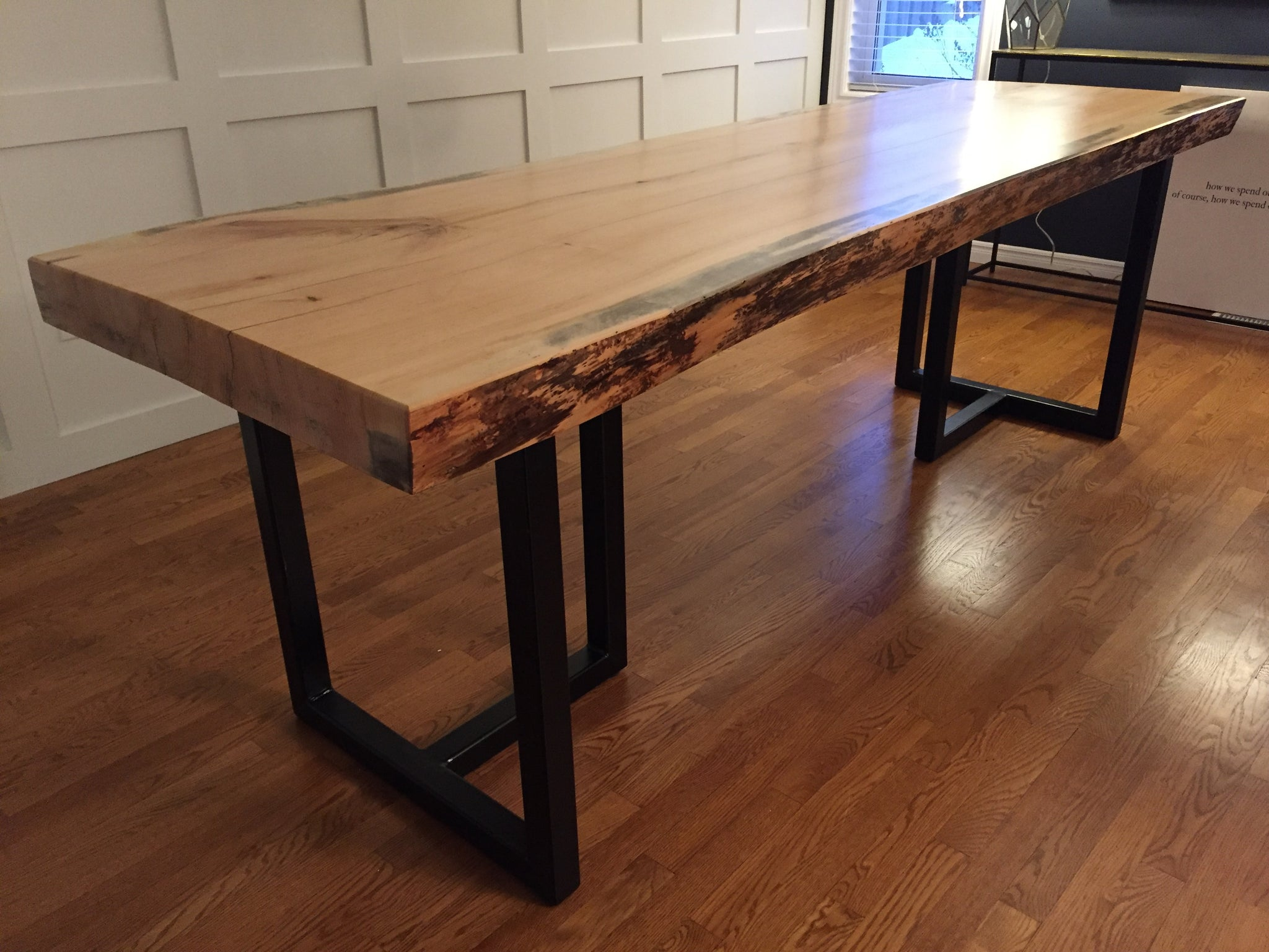 3 Thick Single Slab Live Edge Dining Table Rustic Craft Canada