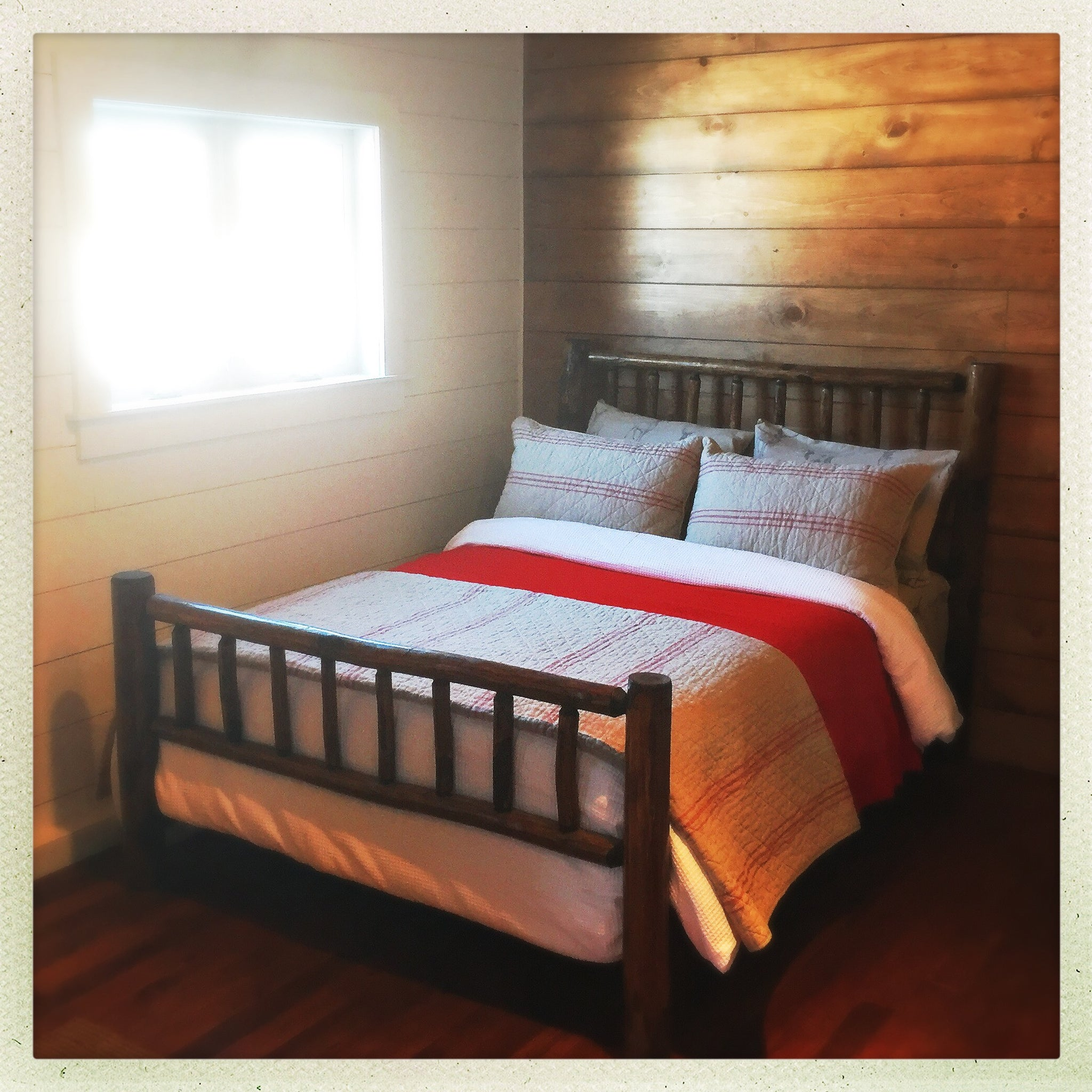 diy log size rustic frame queen canada kits full frames aspen of bed iron