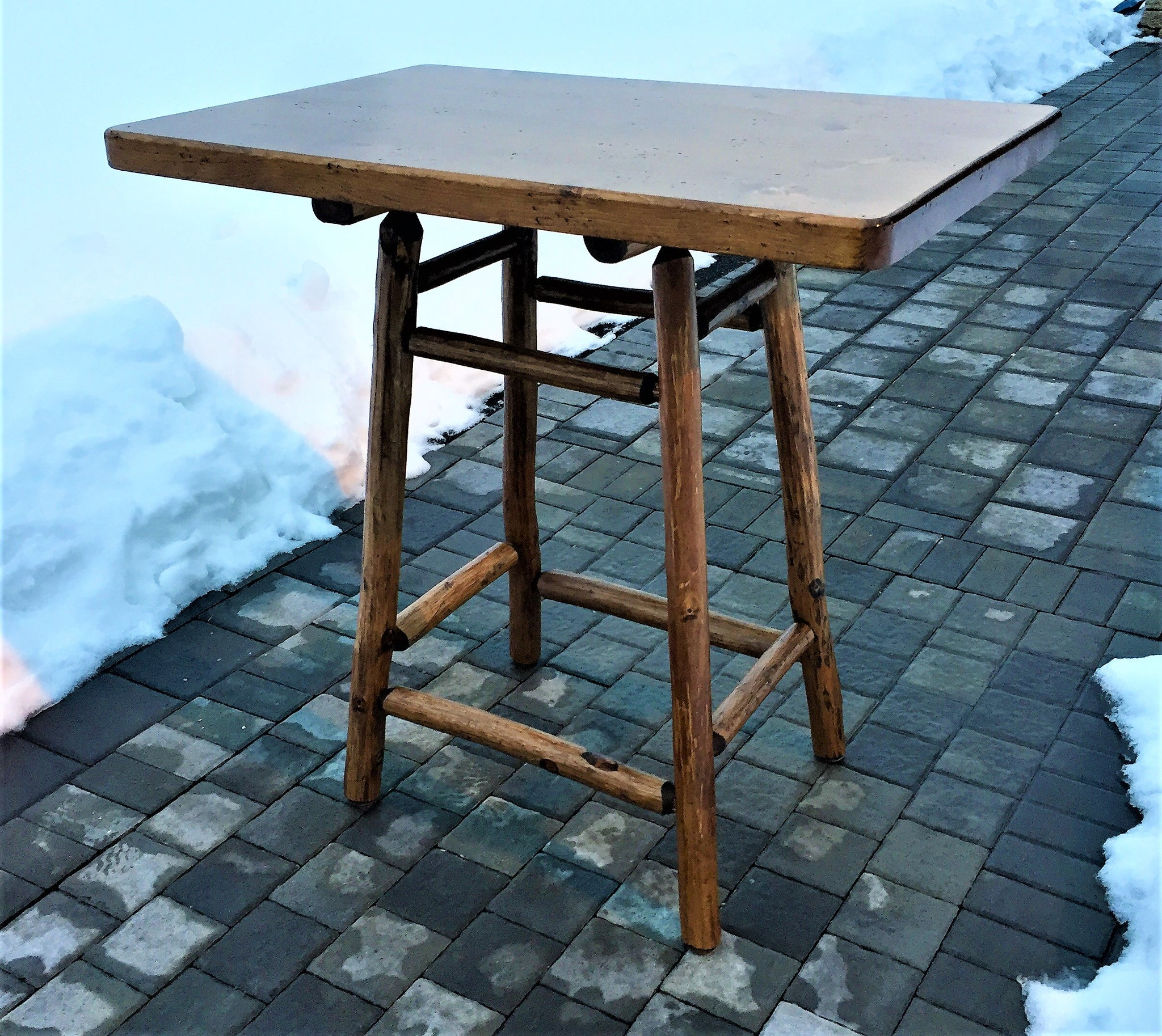 bistro furniture table dining antique outdoor rust simone