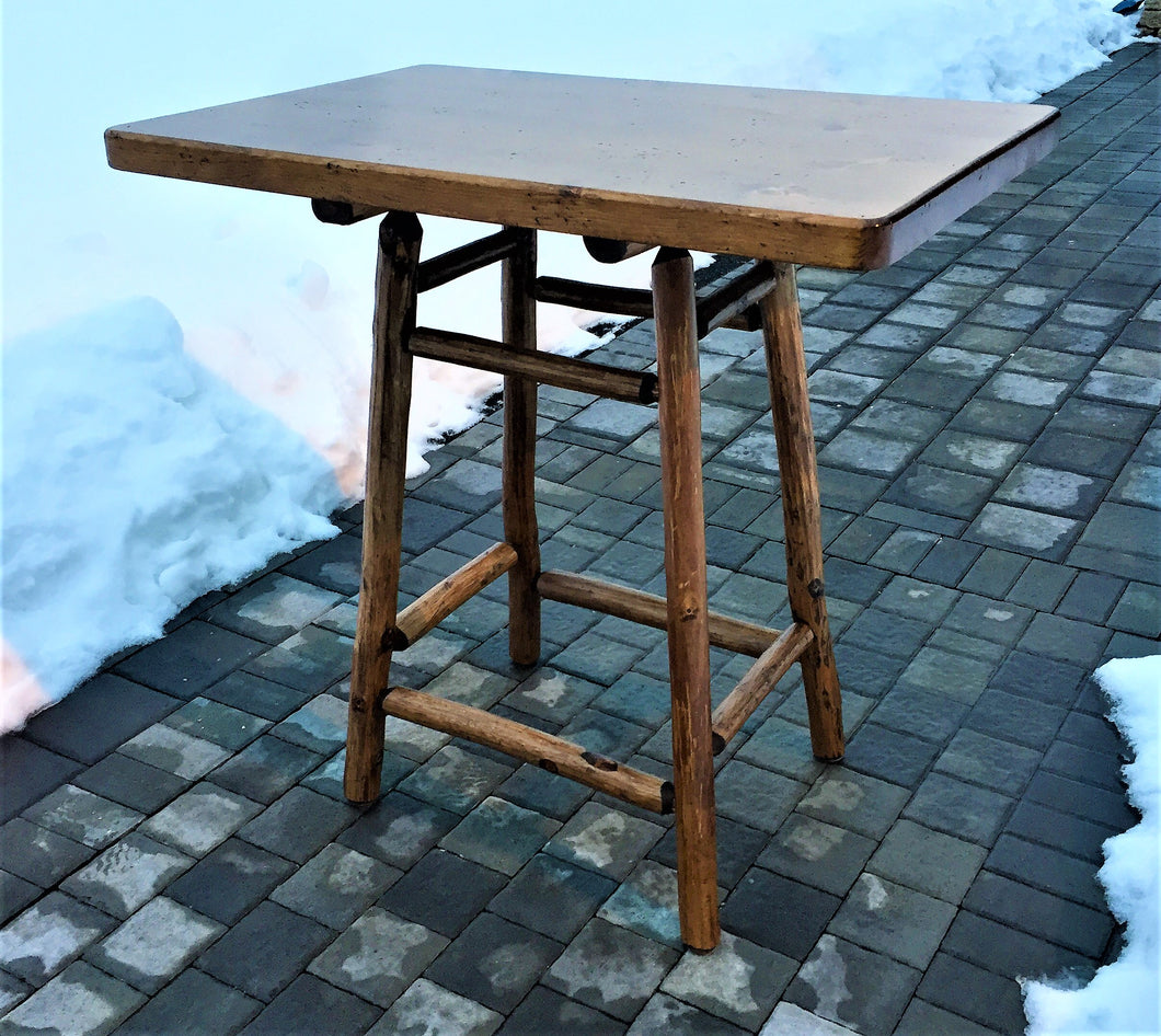 square rectangular bistro bar table