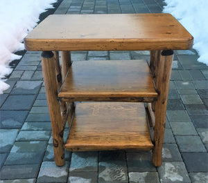log tv stand table