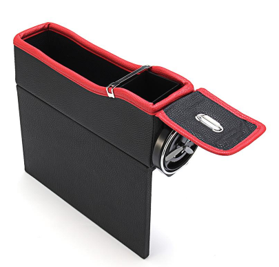 CAR SEAT ORGANIZER WITH CUP HOLDER & COIN BOX