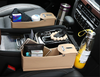 Image of CAR SEAT ORGANIZER WITH CUP HOLDER & COIN BOX