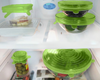 Image of 6PCS REUSABLE SILICONE STRETCH CONTAINERS