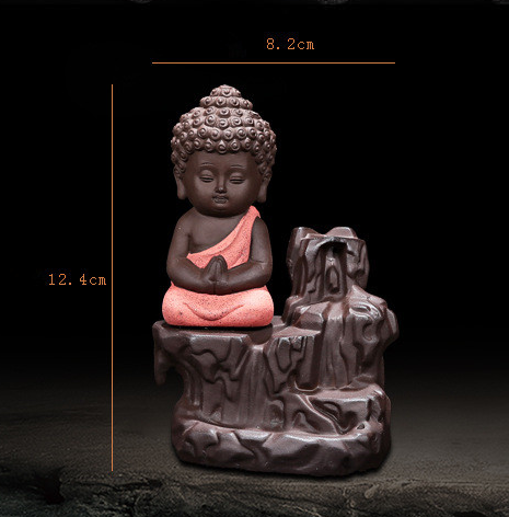 BUDDHA INCENSE BURNER (20 Free Incense Cones)