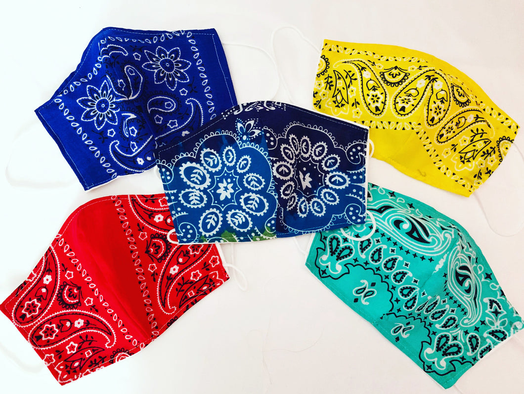 Pack of 5 Assorted Masks - Bandana