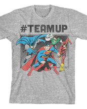 DC Comics Justice League #TeamUp Youth T-Shirt