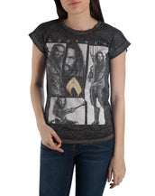 Justice League Movie AQUAMAN OVERSIZED Picture Heather T-Shirt All Sizes