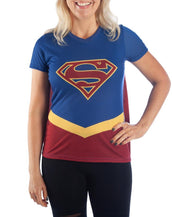 DC Supergirl Cape Tee Cosplay Supergirl Shirt Supergirl Cosplay - Supergirl Cape Shirt DC Comics Supergirl TShirt