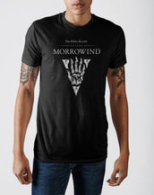 The Elder Scrolls III Morrowind Emblem Black Graphic Print T-shirt