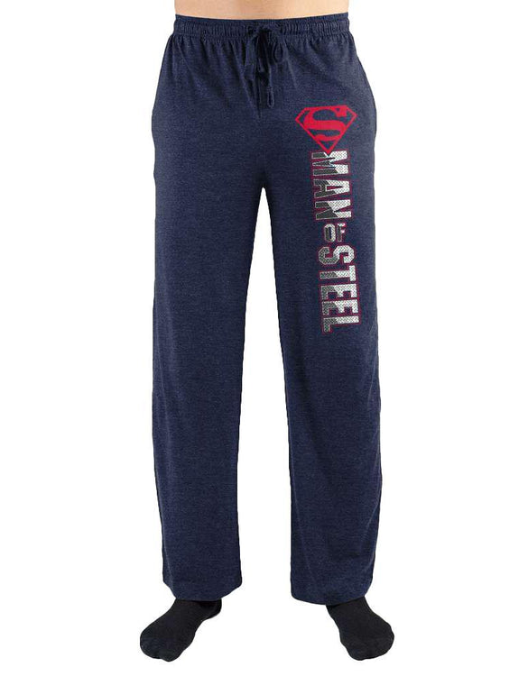 American Superman Man Of Steel Symbol Print Men's Loungewear Lounge Pants