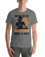 Bitcoin Bubble Men Fine Tee