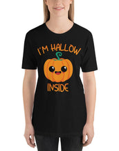 I'M Hallow Inside Cute Pumpkin Women Fine Tee