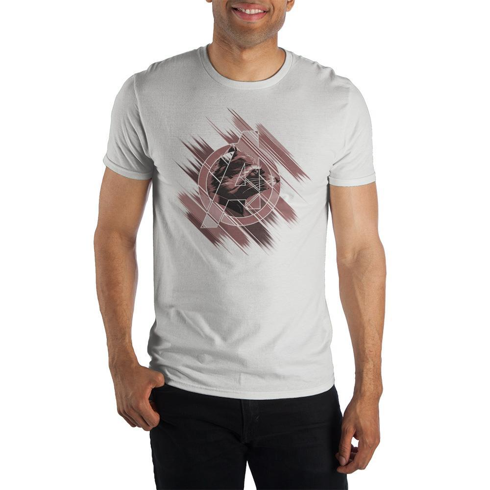 Mens Rocket Raccoon Shirt Short Sleeve Avengers Mens Clothing